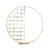Круглая фотозона-арка с частичной сеткой